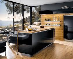 brown black modern kitchen design ideas decorating using solid oak