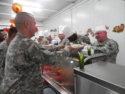 thanksgiving army major general celletti visits rock falls unit in kuwait for