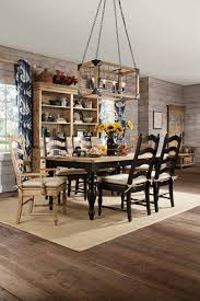 kincaid homecoming solid wood farmhouse leg dining table set in