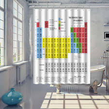Shower Curtain Long 84 Inches Periodic Table Of Elements Chemistry Educational Shower Curtain