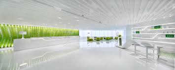 luxury offices interior design of modern office with green floor
