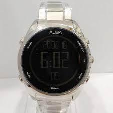 Jam Tangan Alba Digital jam tangan alba original pria a5a005 silver hitam loyalwatch