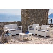 divano giardino salottino da giardino in resina antiurto divano a 2 posti poltrone