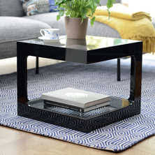 Black Gloss Side Table Side Tables Contemporary Lounge Furniture From Dwell