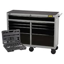 stanley 10 drawer rolling tool cabinet 9 drawer tool chest base 52 rona