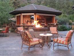 Patio Table With Built In Fire Pit - outdoor fire pit backyard landscape design
