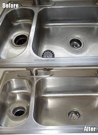 How To Clean A Stainless Steel Sink And Make It Shine Simple - Kitchen sink cleaner