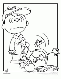 charlie brown christmas coloring pages with regard to really