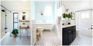 black vanity bathroom ideas adorable bathroom classic black and white tiled floors are