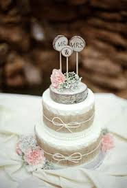 tiered wedding cakes two tiered wedding cake with burlap ribbon deer pearl flowers