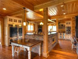 Log Cabin Kitchen Ideas Log Home Kitchens Ideas And Photo Gallery Home Designs Insight