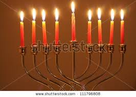hanukkah candles colors beautiful lit hanukkah menorah on black stock photo 64939399