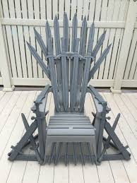 Adirondack Chair Place Card Holders Game Of Thrones Chair Adirondack Chair As A Base Handcrafted