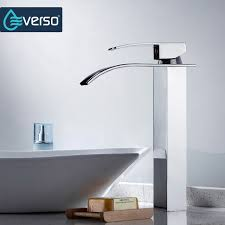 waterfall kitchen faucet aliexpress buy everso kitchen faucet waterfall chrome basin