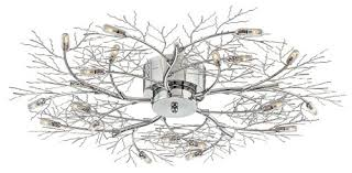 Twig Light Fixtures Possini Branch 30 1 2 Wide Chrome Ceiling Light To