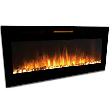elite flame 50 inch fusion pebble built in smokeless wall mounted