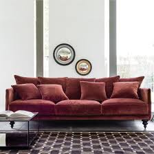 canapé fabrication italienne canapé fixe lazare en velours interiors living rooms and room