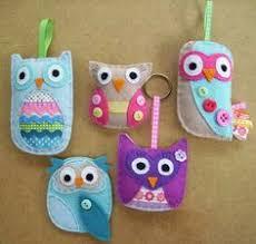 felt hibou pins owl felt owls and felting
