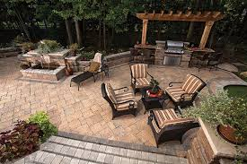Outdoor Patio Kitchens by Outdoor Living Space Trends For 2015 Baron Landscaping