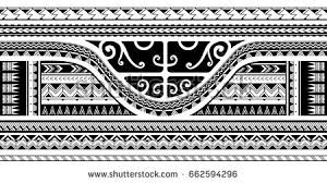 maori style ethnic ornament sleeve stock vector 662594296