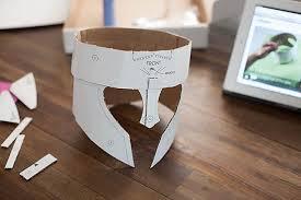 crafteeo diy cardboard warrior helmets u2014 all for the boys