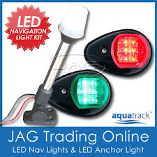 boat navigation light kit 12v led black navigation anchor light kit port starboard stern