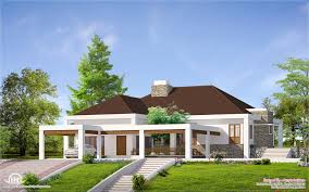 Home Parapet Designs Kerala Style by Kerala Style Single Floor House Plans And Elevations Thefloors Co