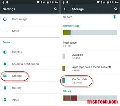 android cache clear cached data in android lollipop
