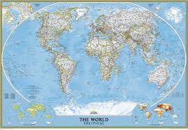 South And North America Map by Giant Traveling Maps North America National Geographic Society