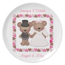 and groom plates tuxedo plates zazzle