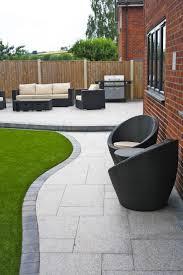 Paved Garden Ideas Stunning Modern Patio Birch Granite Paving Garden Wicker Furniture