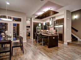 Wooden Furniture Open Concept Kitchen Enhancing Spacious Room Nuance Traba Homes