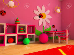 game zone in a children u0027s room 3d image stock photo picture and