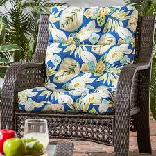 Blue Outdoor Cushions Amazon Com Greendale Home Fashions Indoor Outdoor High Back