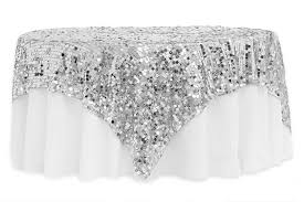 silver lace table overlay large payette sequin table overlay topper 90 x90 square silver