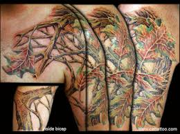 maple tree tattoo on bicep tattooshunt com