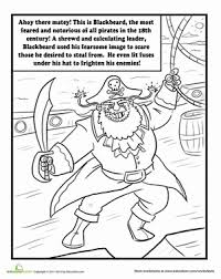 blackbeard pirate worksheet education
