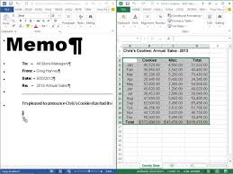 how to embed and link data from excel 2013 into word 2013 dummies