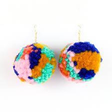 pom pom earrings kailo chic