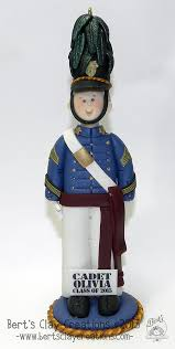 citadel cadet or west point firstie ornament by bertsclaycreations