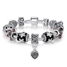 bracelet beads silver images Silver plated tibetan crystal bracelet berazo jpg