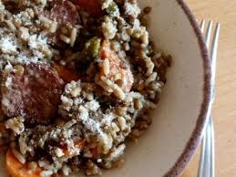 cuisiner les lentilles vertes recette chilienne lentilles vertes au riz et saucisse fumée
