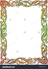 rectangular frame interlaced climbing plants stock vector