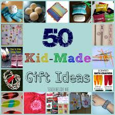 kid made gift ideas for family 50th learning and gift