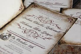 vintage parchment wedding invitations classic vintage wedding