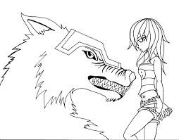 coloring page of wolf anime wolf couple coloring pages amp pictures becuo for anime wolf