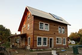 Saltbox Design by Massachusetts Owner Builders Complete A Superinsulated Home