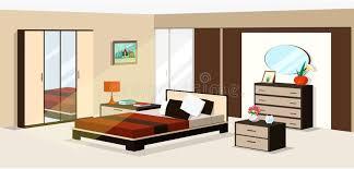 3d isometric bedroom design vector illustration of modern