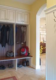 Mudroom by Mudroom With Storage Cabinets Bench And Hooks On The Level Mud