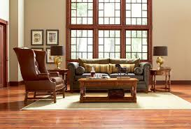 stickley leather collection traditional living room new york